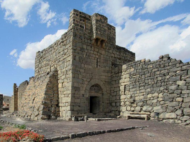 Around 211 AD the Romans built Qasr Al-Azraq in an oasis town 100 kilometers east of Amman, Jordan. Arabs under Izz al-Din Aybak restored the black basalt structure in the 13th century.
