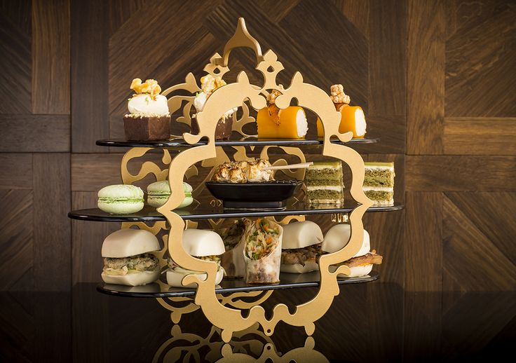 #hightea #stand Amazing high tea presentation stand, designed for W London Leichester Square! S4-F1-51-B406 check out more on http://the-glass-co.com/glass-dinnerware/high-tea-afternoon-tea-stands/