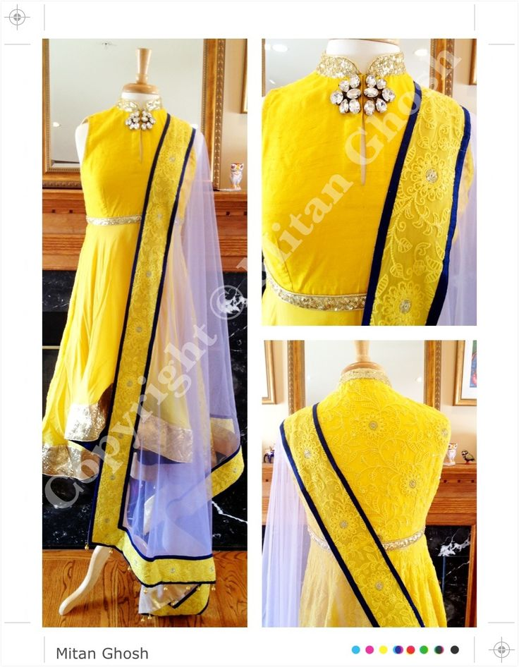 Hi low Chikan suit with satin stretch Churidar and net dupatta.