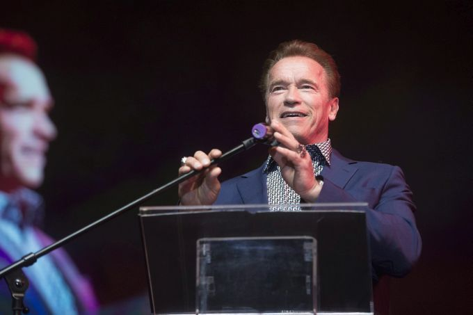 Arnold Schwarzenegger's motivational event in Budapest