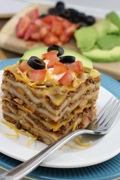 Quesadilla Casserole. Freezer friendly. 30 minute, easy, quick dinner.