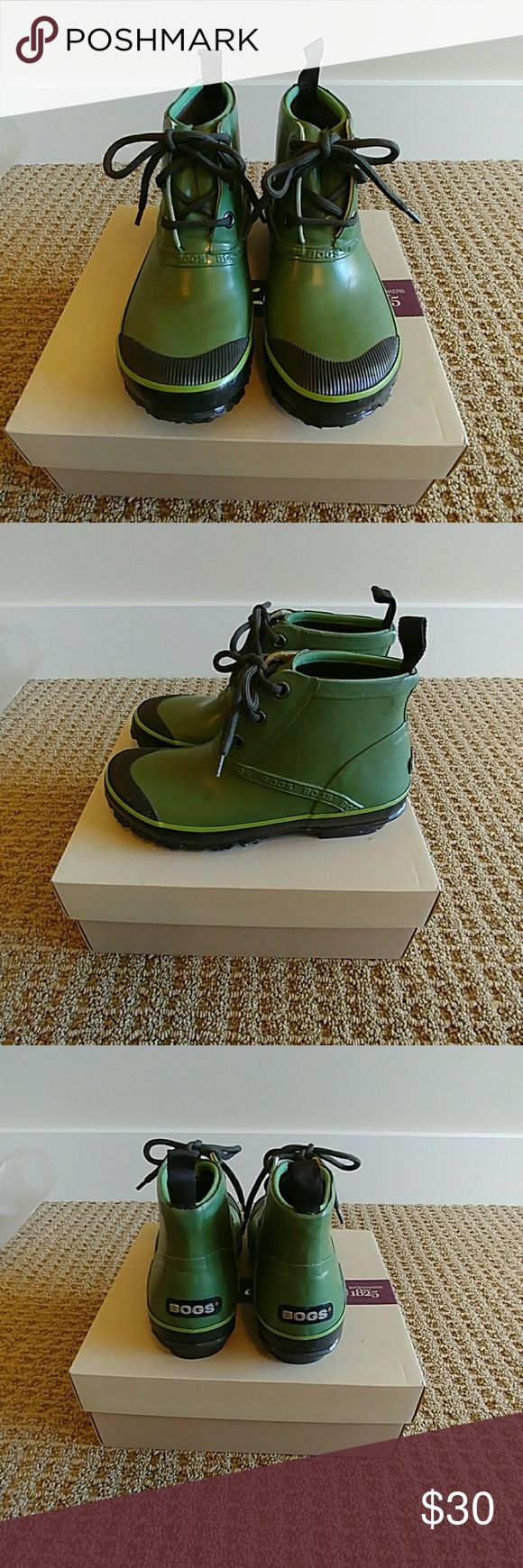 Bogs Rain Boots Great for rainy and light snowy weather or even yardwork, worn once, in excellent condition. Bogs Shoes Winter & Rain Boots