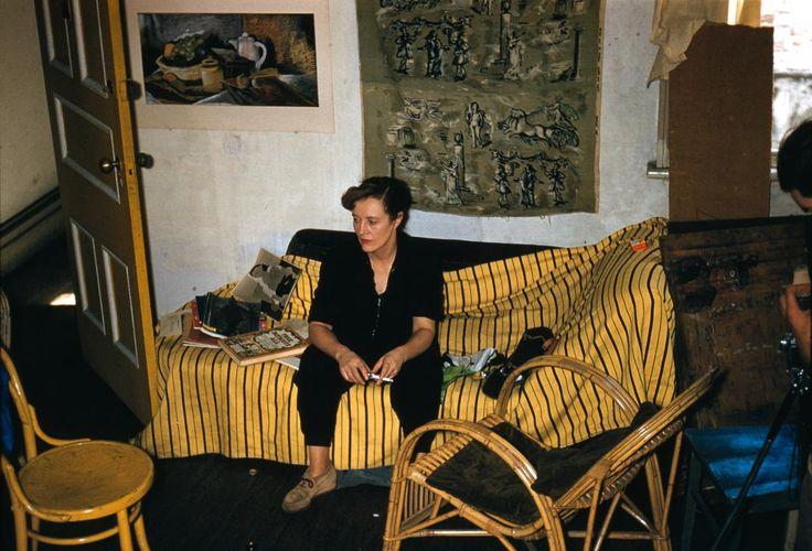 April 1957 paintings, studio - Jean Bellette | Russell DRYSDALE | NGV