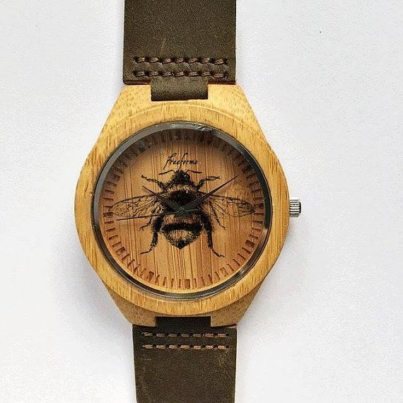 Wooden Watch Honey Bee Watch Wood Watches Women by FreeForme