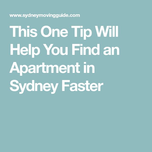 This One Tip Will Help You Find an Apartment in Sydney Faster