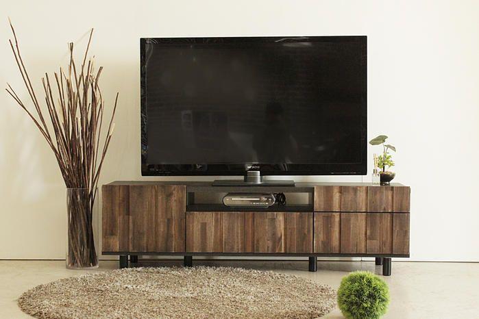 ヴィンテージ風の味のあるテレビボード:ヴィンテージ&レトロ,ダークブラウン系,Home's Style(ホームズスタイル)のテレビ台・ローボードの画像