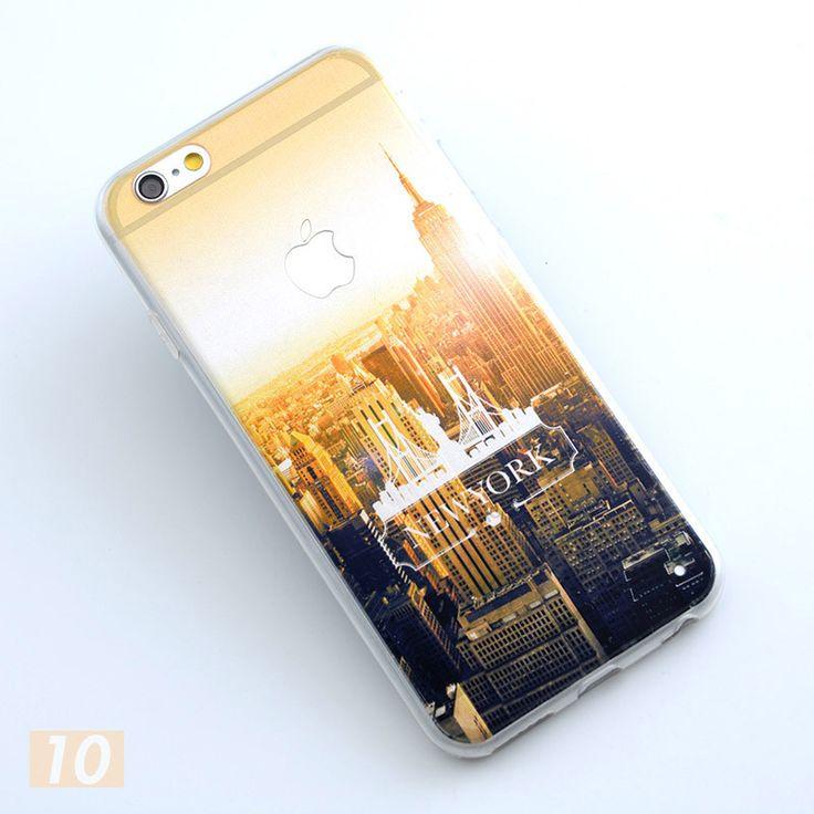 Snow Mountain Glacier Ocean City Scenery Case Cover For Apple iphone 5 5s SE 6 6s 6plus Case Aurora Meteor TPU Case For Phone