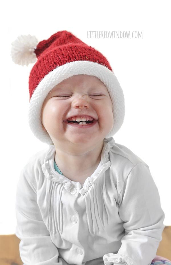 8060664f2 Little Santa Hat Knitting Pattern | Knit baby patterns | Knitting ...