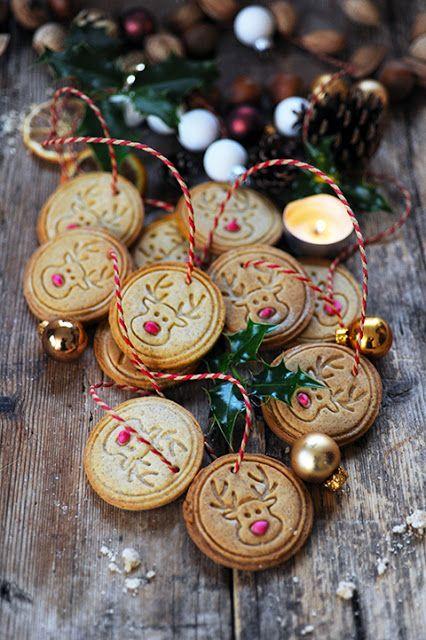 Dorian cuisine.com Mais pourquoi est-ce que je vous raconte ça... : Et si on s'accrochait les biscuits sur un sapin... Mes biscuits au gingembre à accrocher dans les arbres...