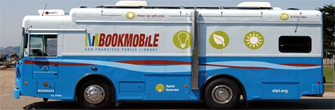 Eco-friendly bookmobile, San Fransisco Public Library