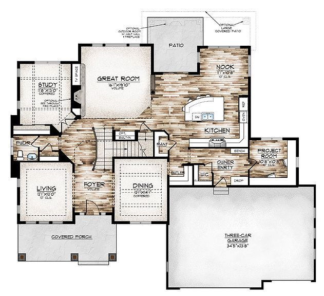 1179 best new house images on pinterest home ideas for Garage plans with office space