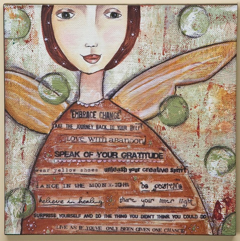 Embrace change arrived today at Skin Deep Spatique!! Love it!: Wear Yellow, Wall Art, Changing Wall, Kelly Rae Robert, Inspiration, Art Journals, Canvas, Yellow Shoes, Embrace Changing