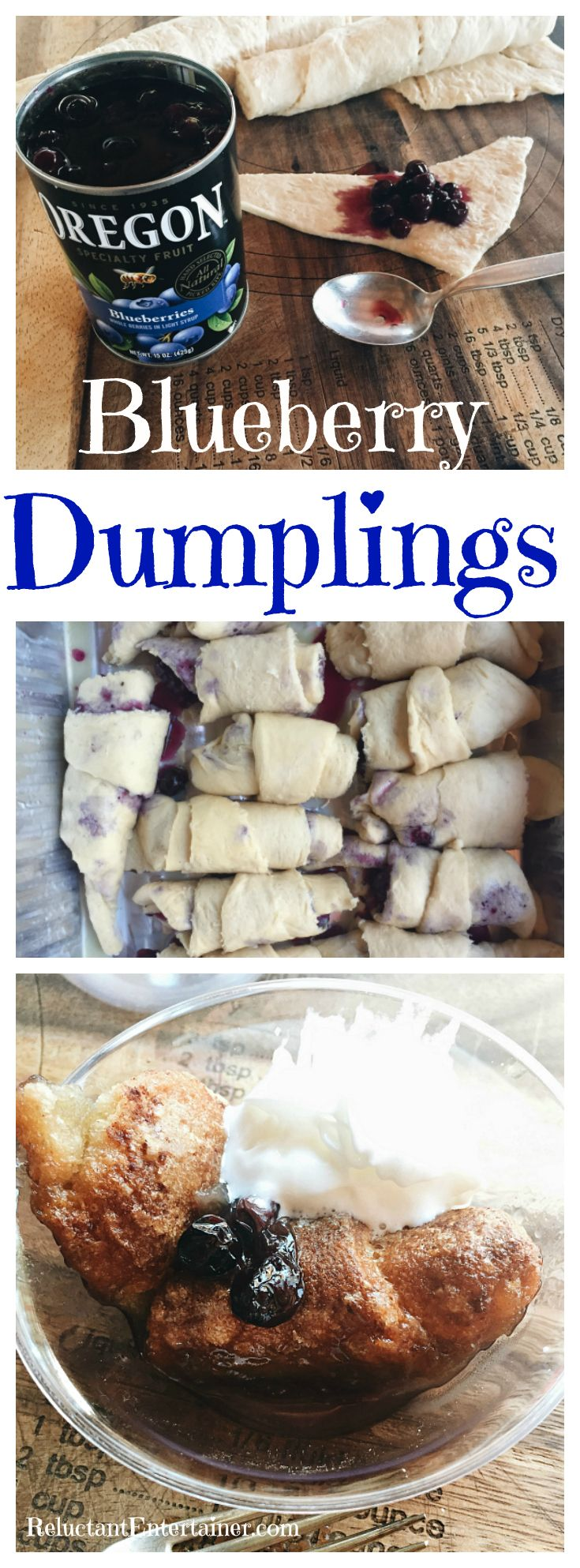Blueberry Dumplings Recipe at ReluctantEntertainer.com