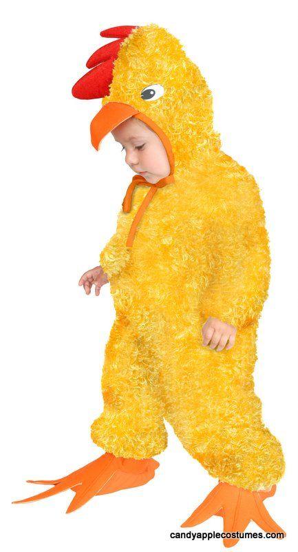 Deluxe Child/Toddler Plush Yellow Chicken Costume