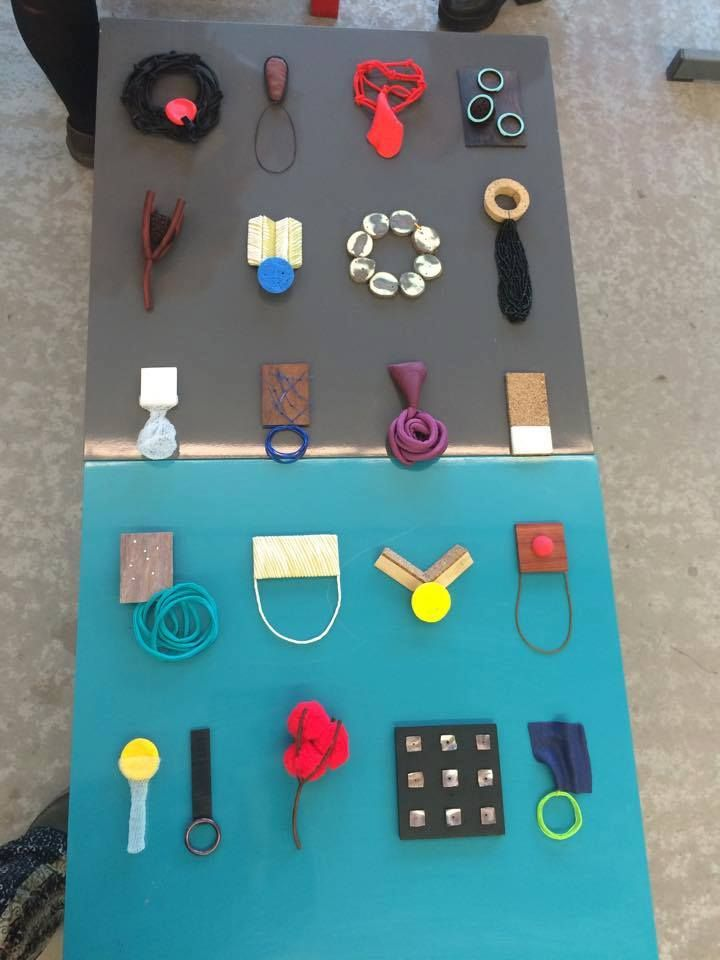 Crazy jewellery making by Paula Treimane /project 21 day - 21 pieces 2016 / mixed materials