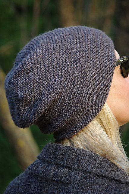 Rikke Hat by Sarah Young. malabrigo SILKY, Smoke colorway.