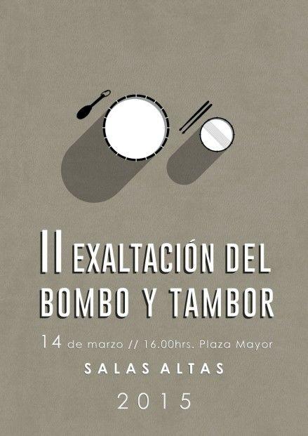 Diseño del cartel II Exaltación del bombo y tambor en Salas Altas |  I. Subias