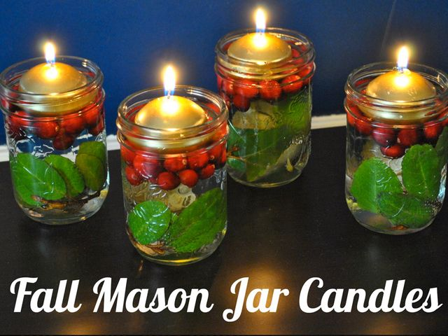 The best part about these fall-themed candles? The can also serve as Christmas decor.  Get the instructions on Life With 4 Boys. RELATED: 13 Craft Ideas to Get You Ready for Fall   - CountryLiving.com