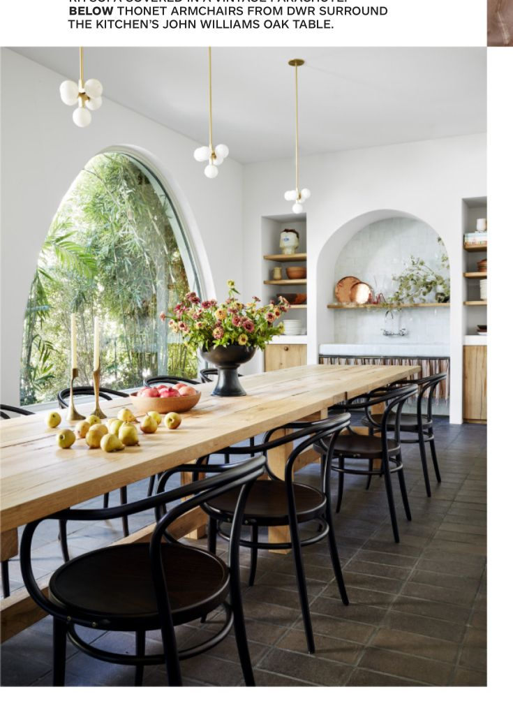 Dark Floor Light Table Black Chairs Home House Interior Dining Room Design