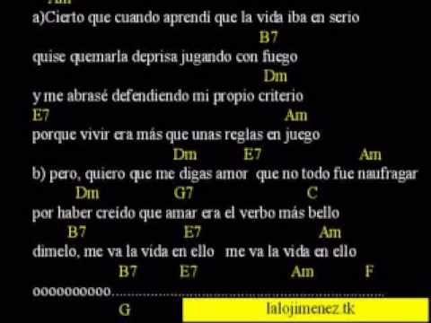 Cancion con acordes de Luis Eduardo Aute interpretada por Silvio Rodriguez