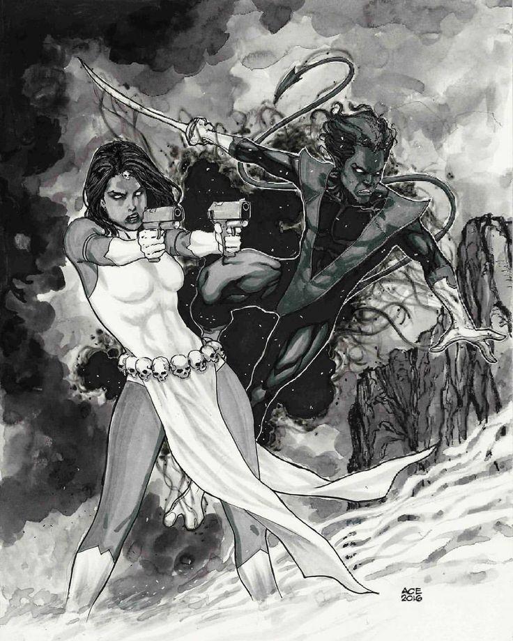 Mystique and Nightcrawler by Ace Continuado