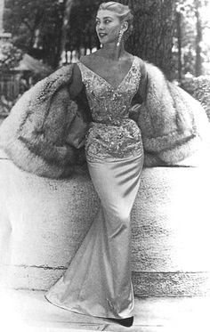 Balmain 1950s.. OK, if anything was me.... It's this entire look!! True love!