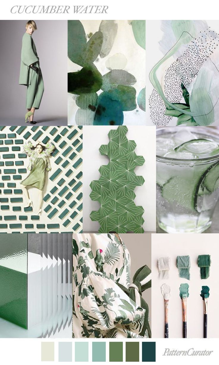 CUCUMBER WATER by PatternCurator moodboard / palettes / color / design / inspiration