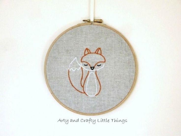 15. #petit renard - 34 #motifs de broderie, que vous #allez à l'amour... → DIY