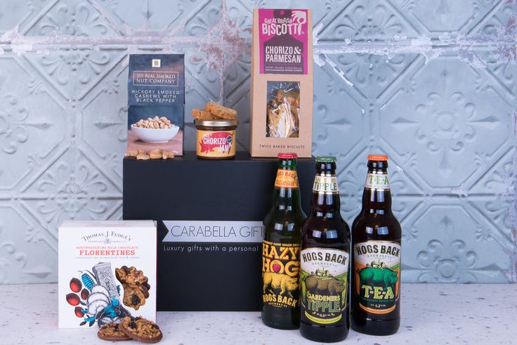 A craft Ale and cider hamper - The weather is hotting up and we think this Craft Ale and Cider Hamper is the perfect gift to help you chill. A selection of savoury and sweet treats are included and provide the perfect accompaniment to the refreshing beverages from Hogs Back Brewery.