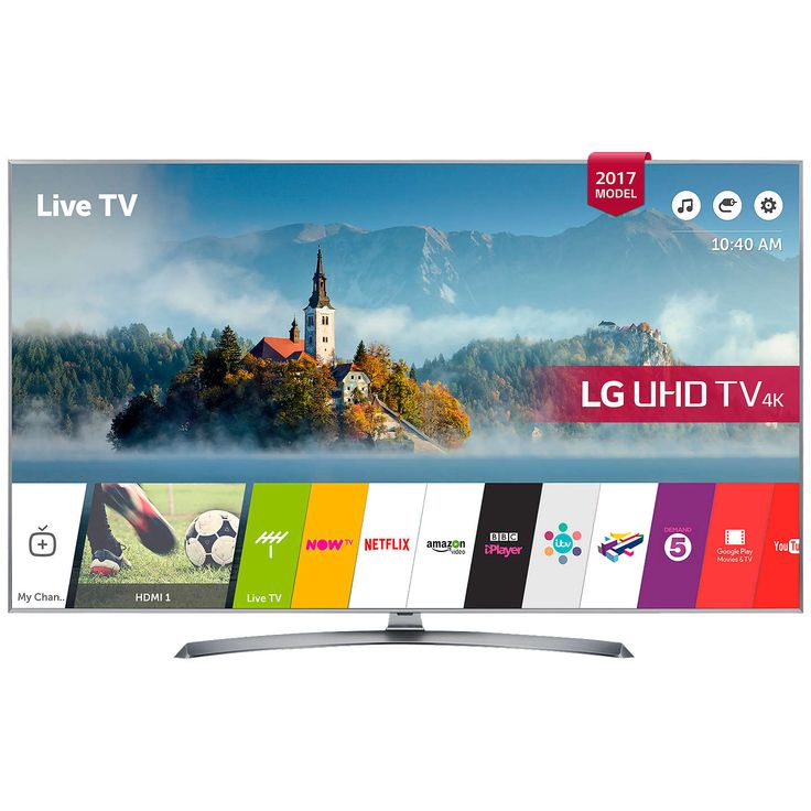 """BuyLG 43UJ750V LED HDR 4K Ultra HD Smart TV, 43"""" With Freeview Play & Crescent Stand, Silver Online at johnlewis.com"""