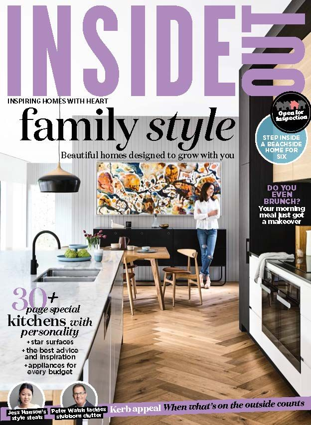 The cover of the March 2017 issue of Inside Out magazine. Photography Derek Swalwell. Styling by Rachel Vigor.  Available from newsagents, Zinio, https://au.zinio.com/magazine/Inside-Out-/pr-500646627/cat-cat1680012#/, Google Play, https://play.google.com/store/newsstand/details/Inside_Out?id=CAowu8qZAQ, Apple's Newsstand,https://play.google.com/store/newsstand/details/Inside_Out?id=CAowu8qZAQ, and Nook.