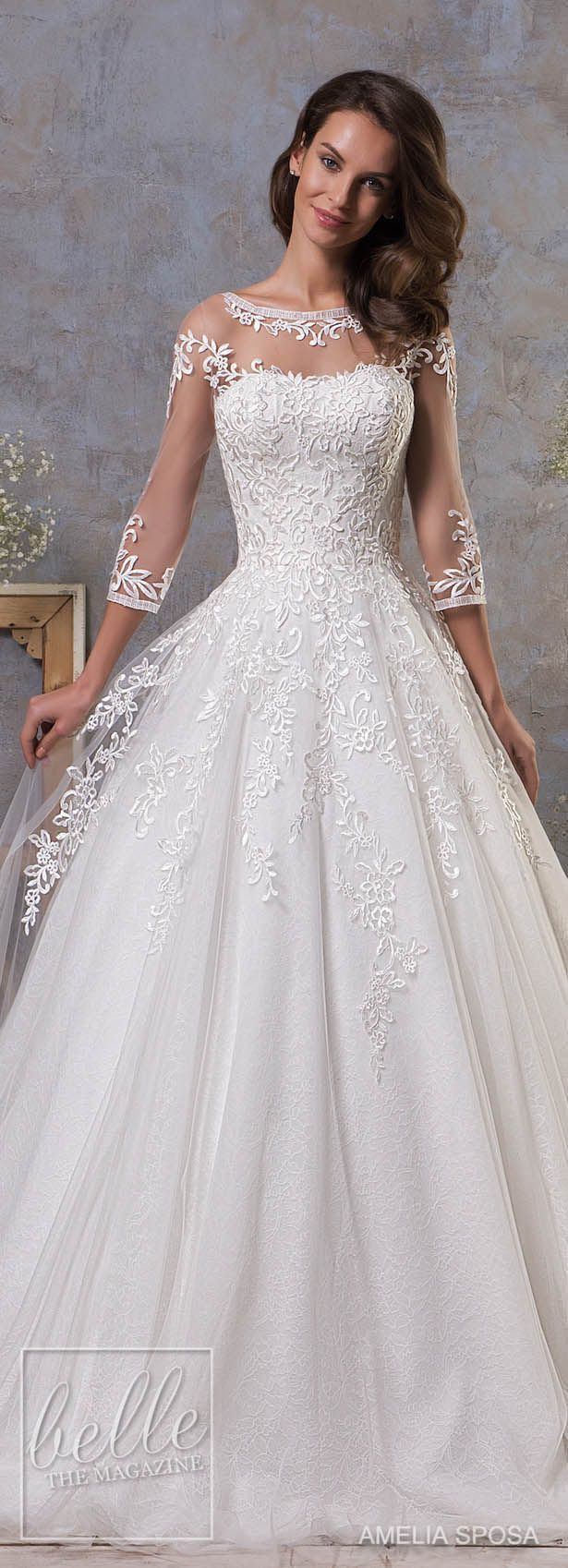 Amelia Sposa Fall 2018 Wedding Dresses #weddingdresses