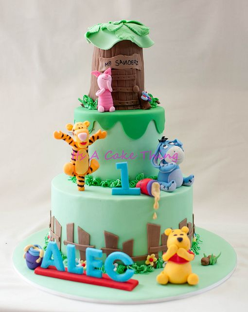 Alec's Pooh and Friends by Its A Cake Thing (Jho), via Flickr