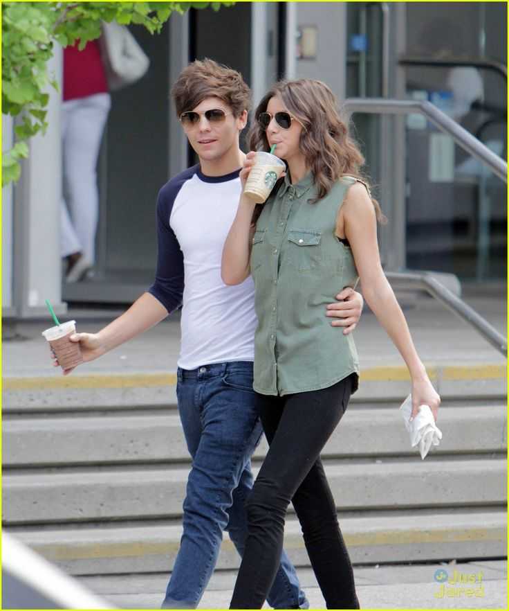 Louis of One Direction With Her GF Eleanor Calder #AskaTicket #Louis #Eleanor