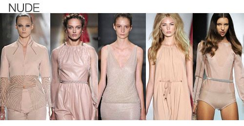 Top color. Womens Spring 2012 trend report, nude