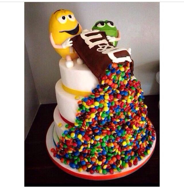 Cool M&M Cake -repinned from Los Angeles County, CA celebrant https://OfficiantGuy.com