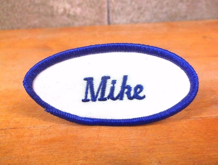"""Personalized """"MIKE"""" embroidered UNIFORM NAME PATCH tag employee mechanic Michael #Unbranded"""