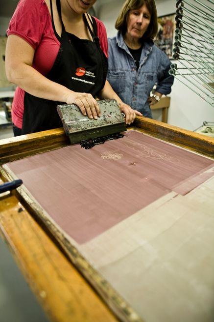 Atelier Presse Papier Photo  : Symptôme Créa-Comm http://www.pressepapier.ca/ #artiste #estampe