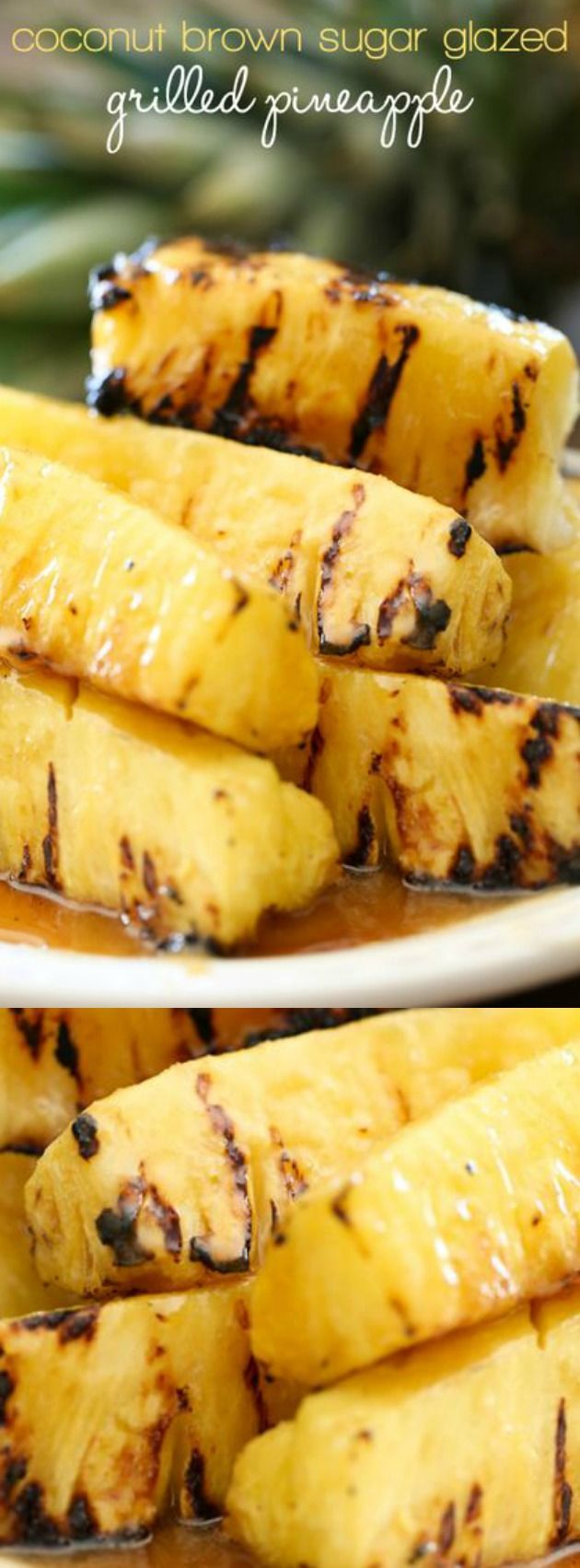 This Coconut Brown Sugar Grilled Pineapple recipe from Chef In Training is going to become your new go-to recipe for all of your parties this year! It tastes INCREDIBLE!!! The coconut and pineapple go together perfectly and create something that your friends and family will go CRAZY for!