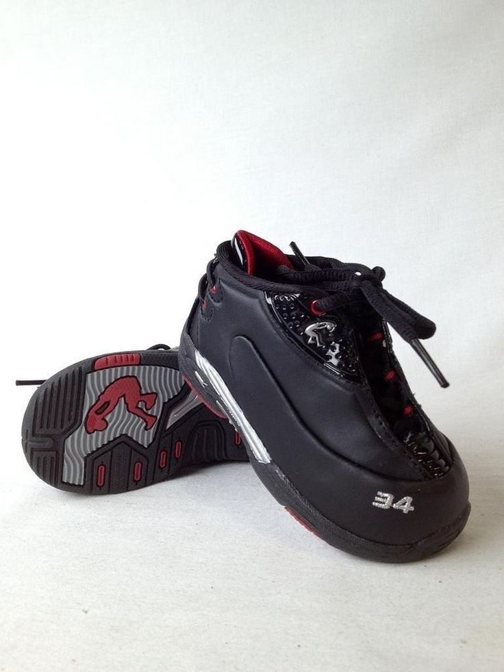 New Toddler Boy Baby Shaq Black Leather Athletic Shoe ...