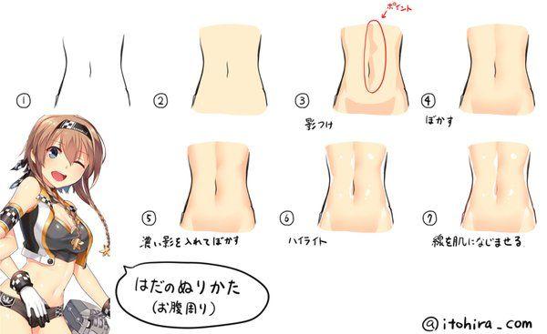 manga female stomach