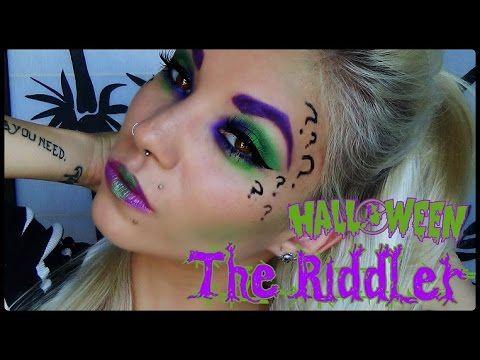 The Riddler   Halloween Makeup