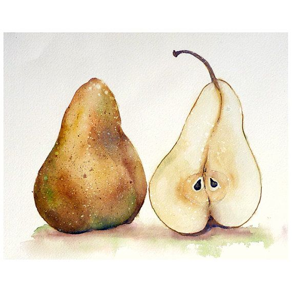 Still Life of Yellow Pears by LaBerge on Etsy