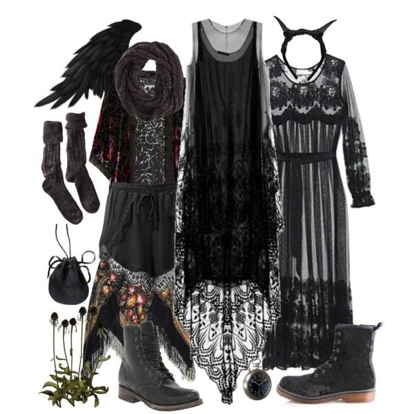Enchanted forest by petprouvaire on Polyvore featuring Zimmermann, Anna Sui, Polder, Steve Madden, Rusty, FAUXTALE, Eichholtz, mori, fantasy and enchantedforest