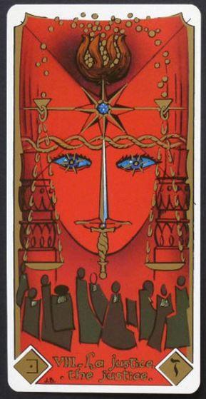 Justice - Masonic Tarot by Patricio Diaz Silva / Eduardo Patricio Diaz (Author & Artist)