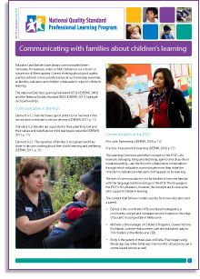In this e-Newsletter, two educators and a parent provide a valuable commentary on the benefits of communication – how a shared understanding is developed, so that families are reassured and each child's learning is valued and supported. The author, Anne Stonehouse, offers tips for how and when to communicate and authentic stories and insights based on her wide experience. http://wp.me/P2wNWe-13K