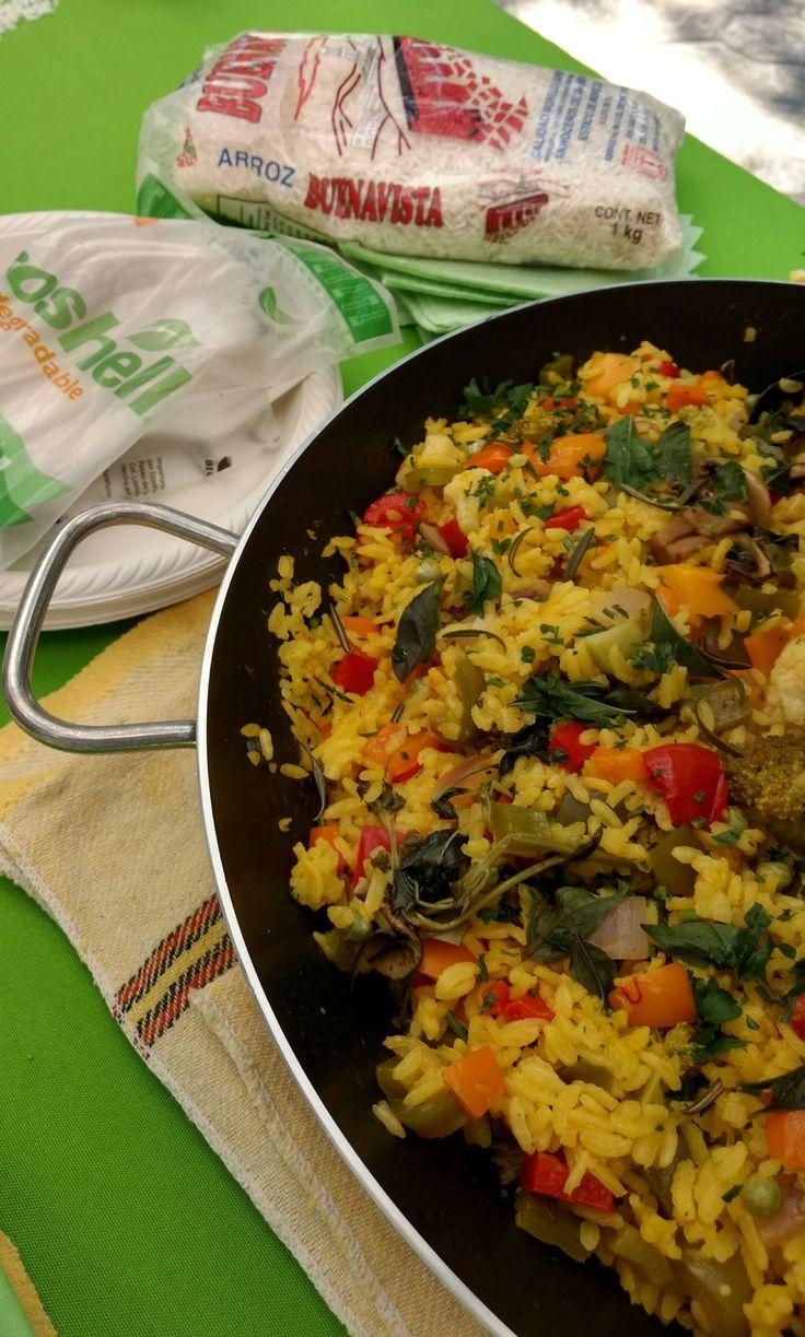 Paella Vegetariana Mercado Verde