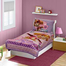 Nickelodeon Paw Patrol Skye 4 Piece Toddler Bedding Set  Pink/Purple