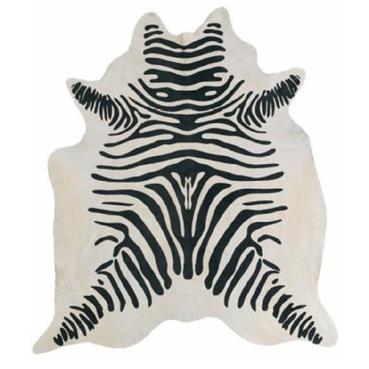 Tapis en peau de vache Imprimer Zebra CO-829 Dyed Peau de vache