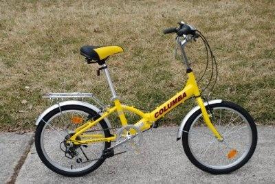 Columba 20 Alloy Folding Bike w. Shimano 7 speed Yellow (R20A_YEL)